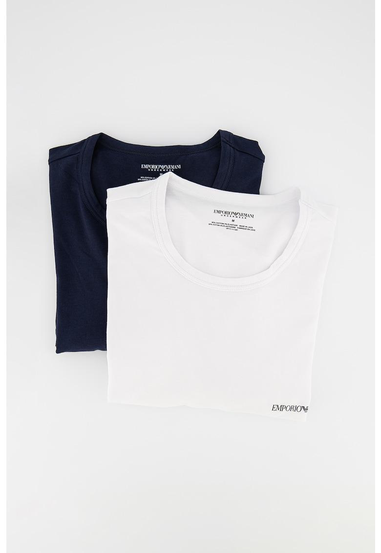 Set de tricouri de casa cu decolteu la baza gatului - 2 piese