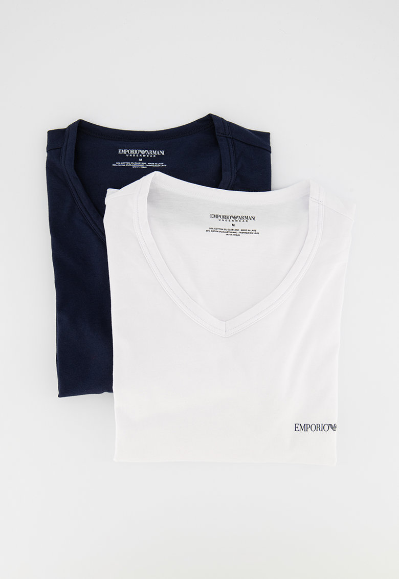 Set de tricouri de casa cu decolteu in V - 2 piese