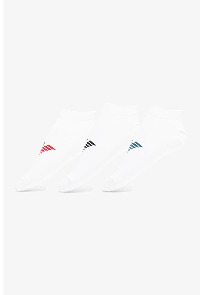 Emporio Armani Underwear Set de sosete foarte scurte cu imprimeu logo - 3 perechi