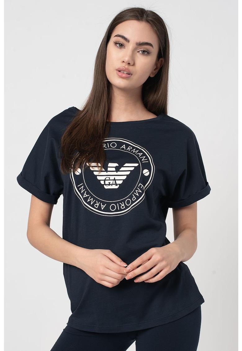 Tricou de bumbac - de casa cu logo imagine fashiondays.ro 2021