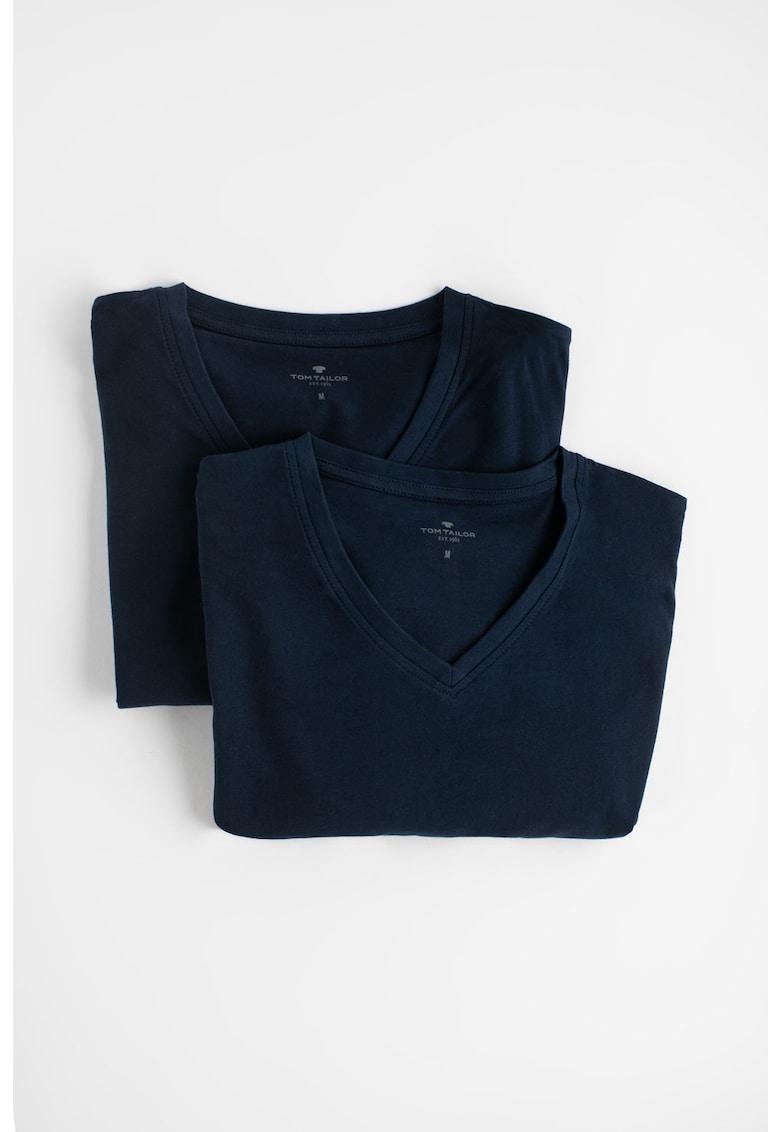 Set de tricouri de bumbac cu decolteu in V - 2 piese Bărbați imagine