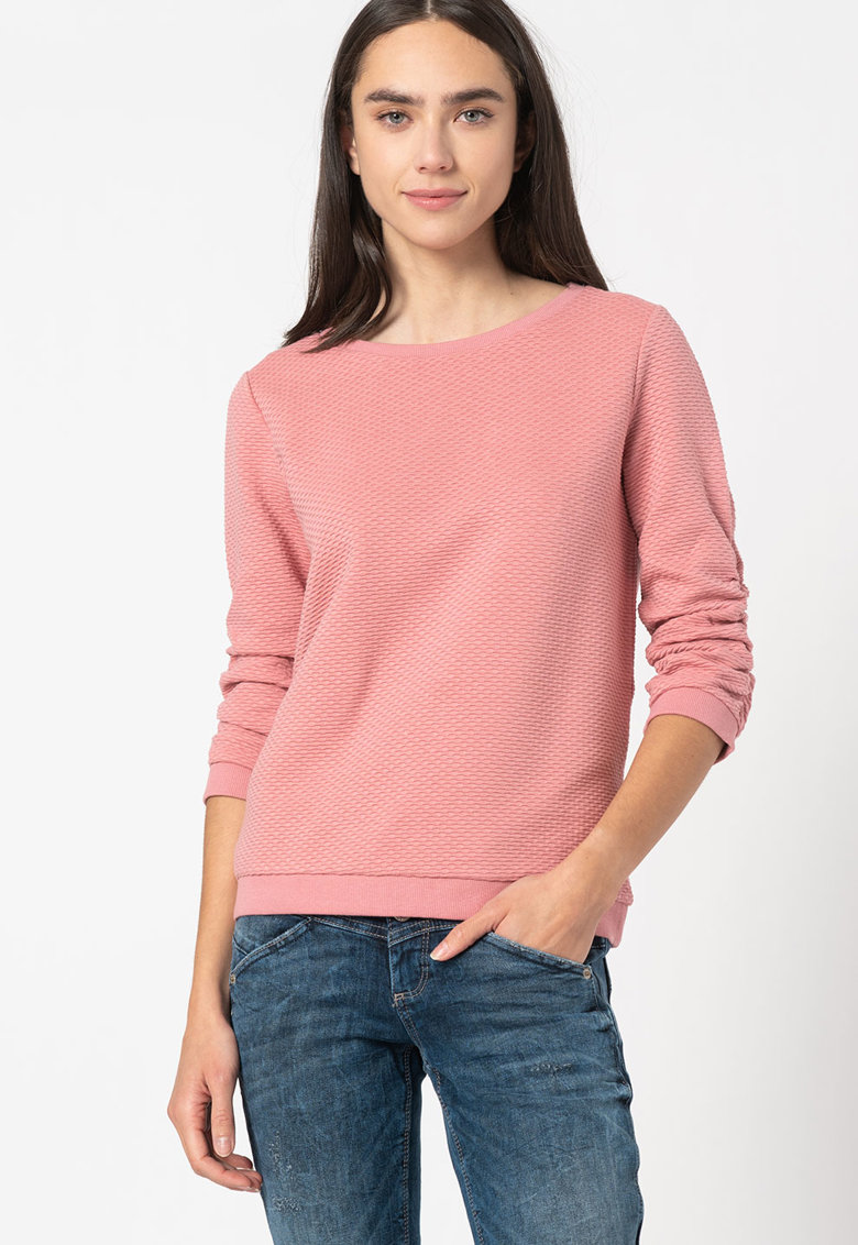 Bluza cu aspect texturat si maneci lungi imagine promotie