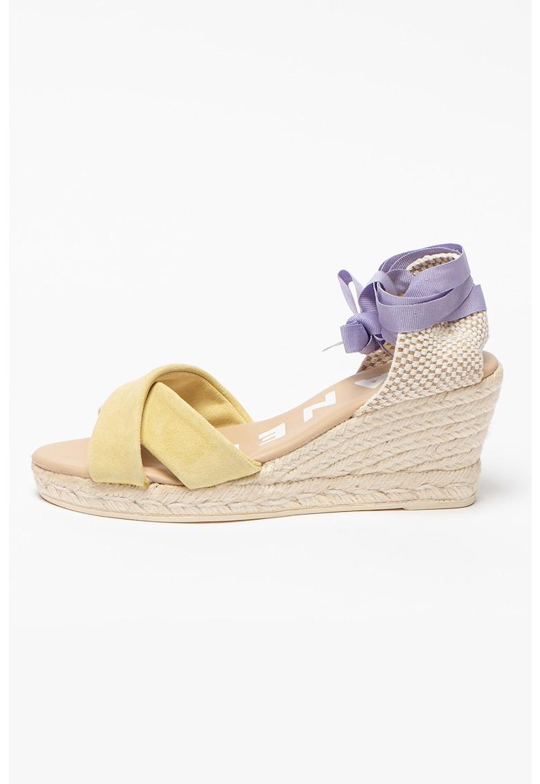 Sandale tip espadrile wedge