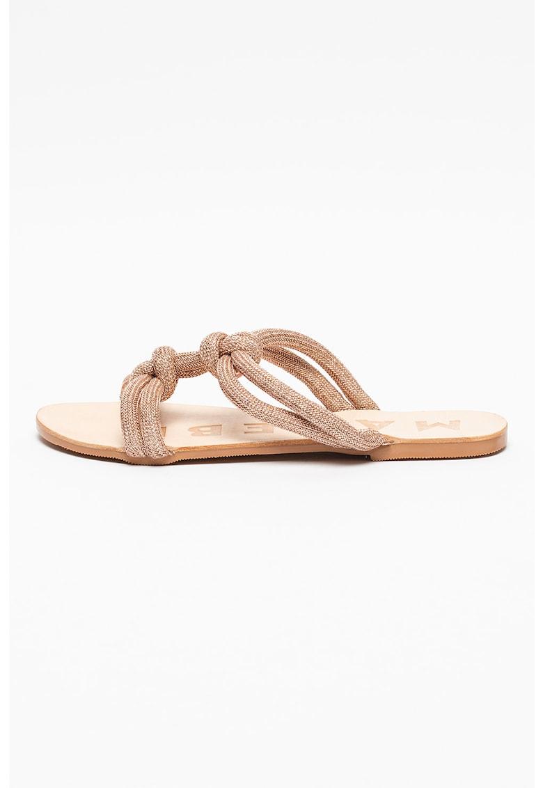 Papuci din material textil cu model rasucit