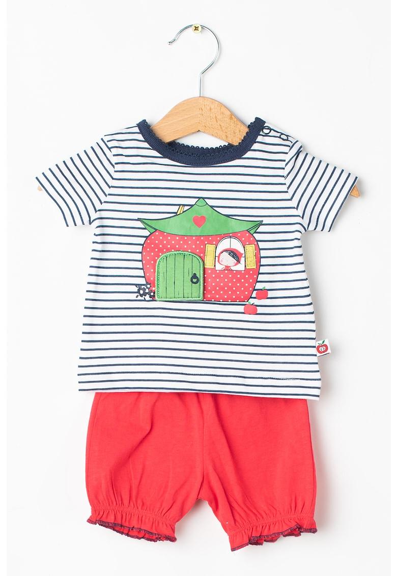 Set de tricou si pantaloni scurti de bumbac organic imagine fashiondays.ro 2021