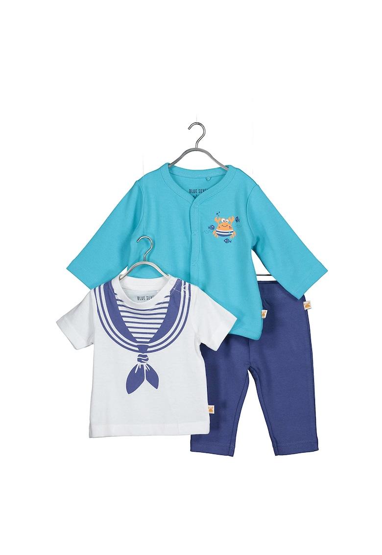 Set de tricou - cardigan si pantaloni lungi de bumbac fashiondays.ro