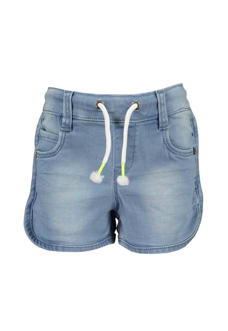 Pantaloni scurti de denim cu snur imagine fashiondays.ro 2021