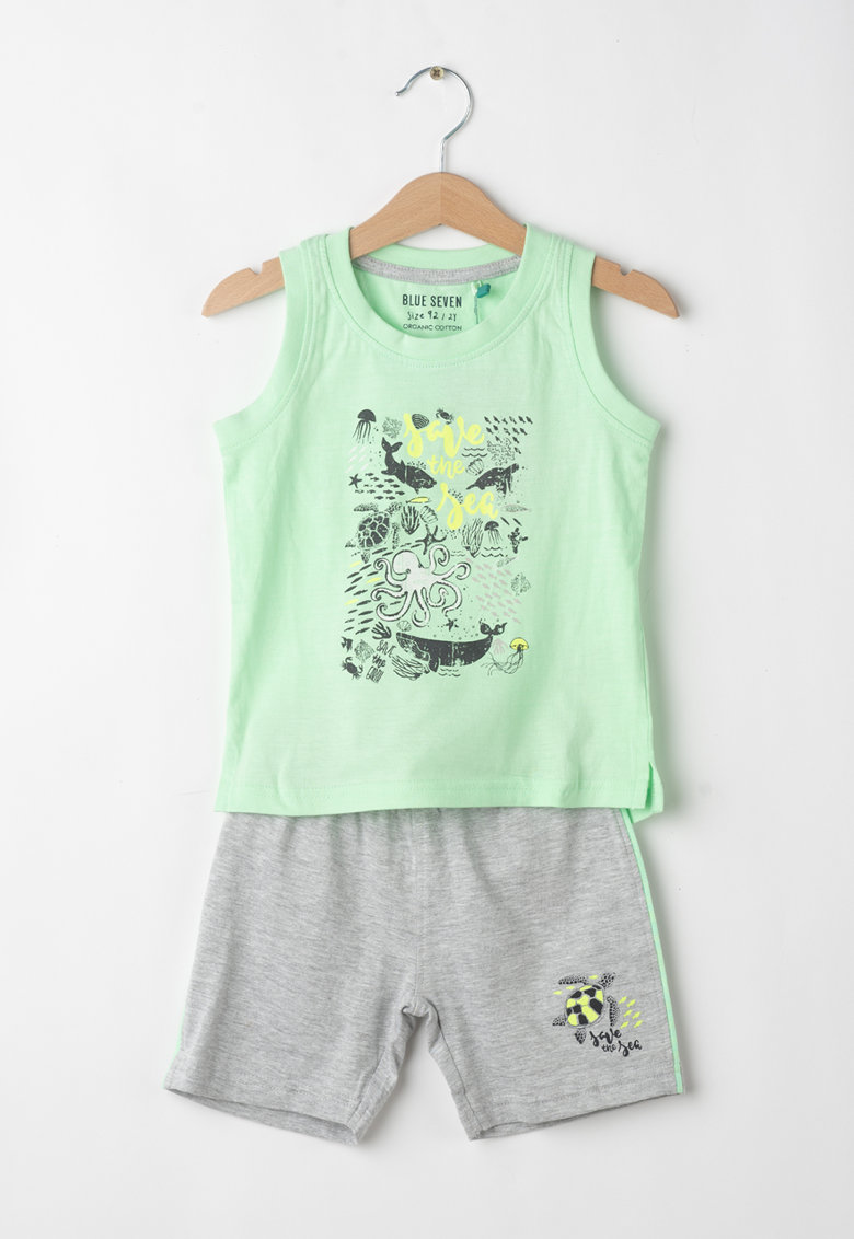 Set de top si pantaloni scurti - cu imprimeu marin imagine fashiondays.ro