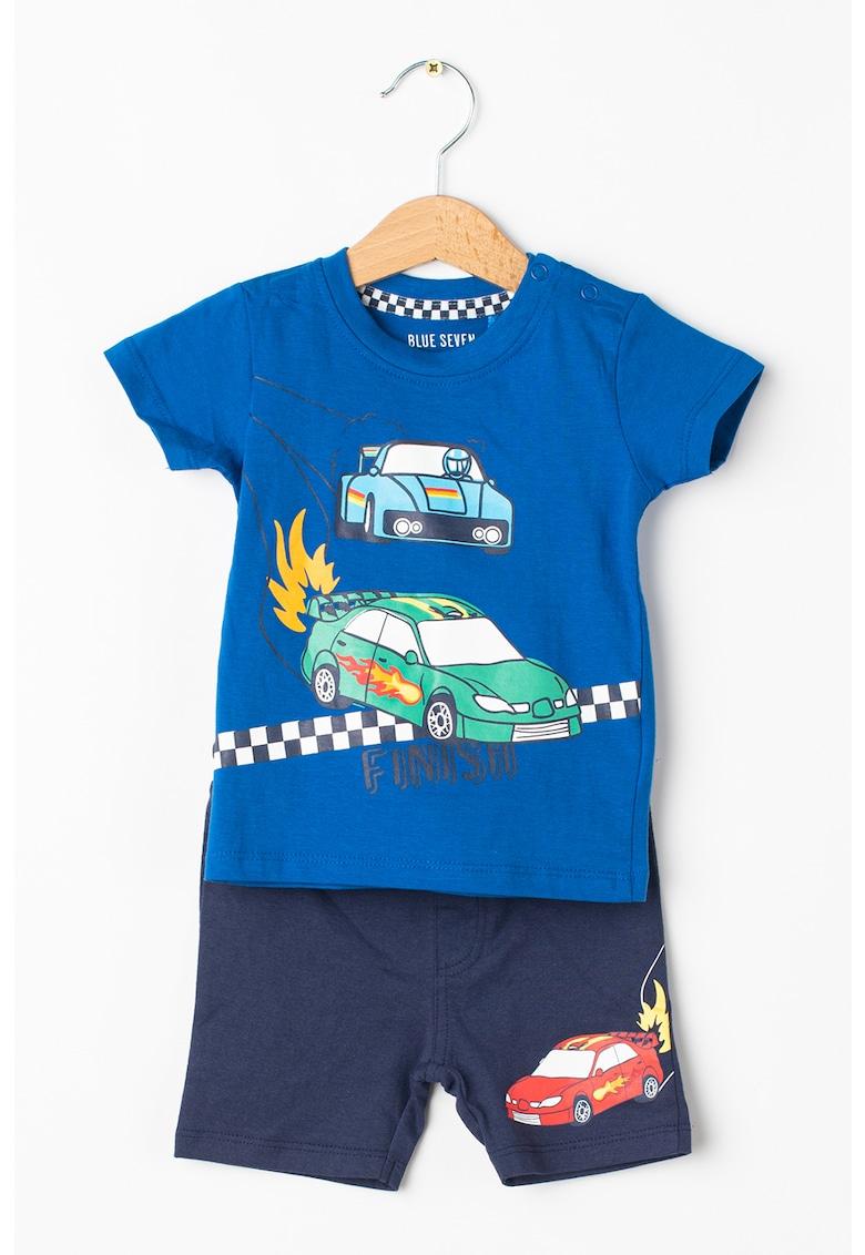 Set de tricou cu imprimeu si pantaloni scurti - 2 piese imagine fashiondays.ro 2021