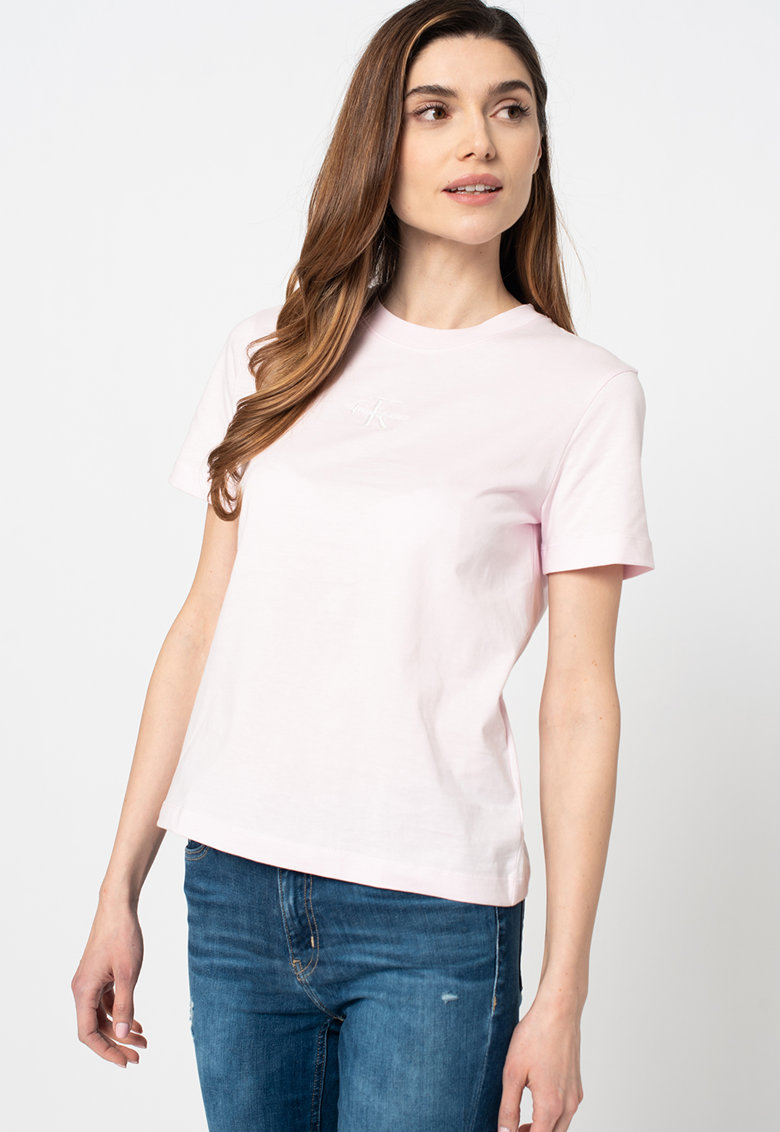 Tricou de bumbac organic cu logo imagine