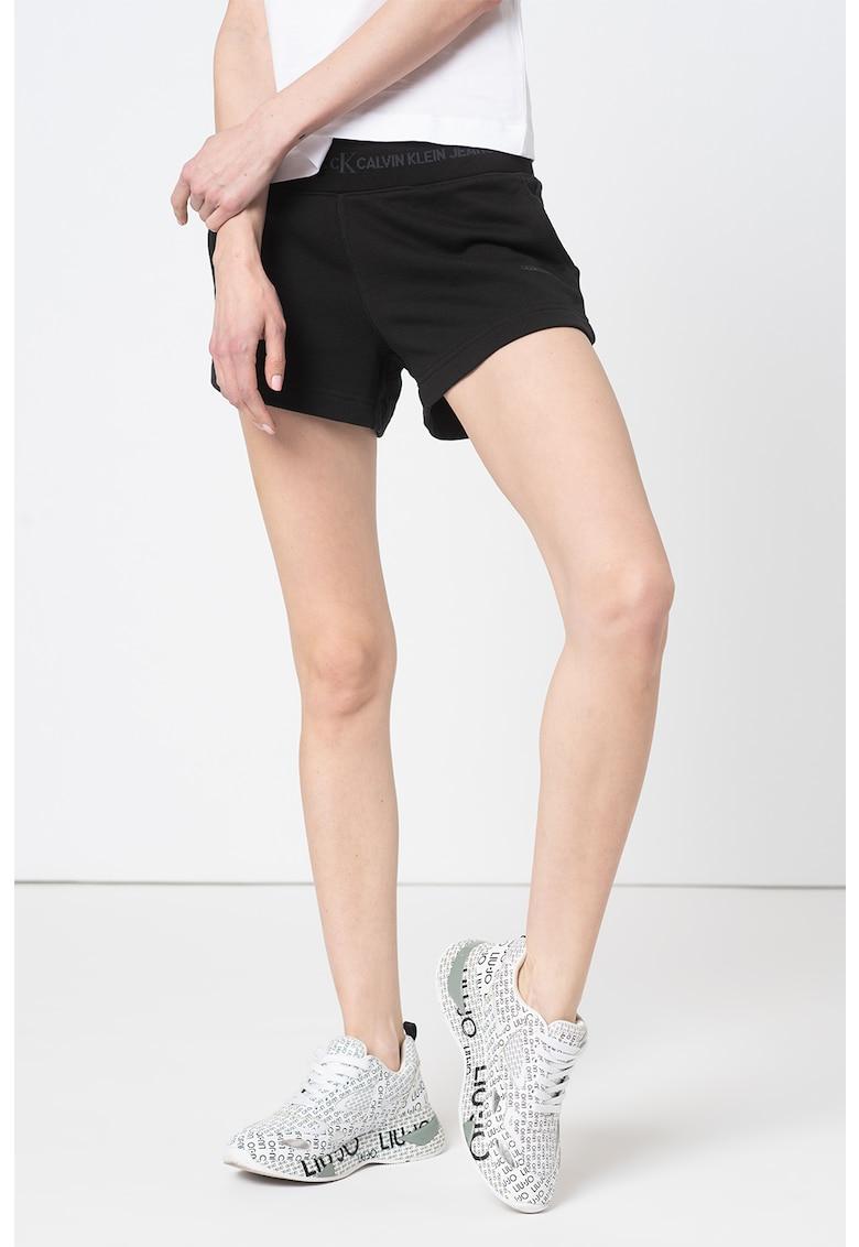 Pantaloni scurti de bumbac organic cu banda logo in talie imagine