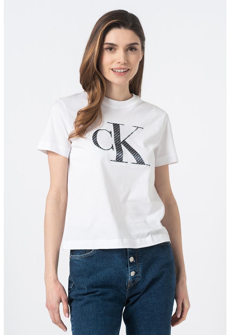Tricou bumbac organic cu imprimeu logo imagine