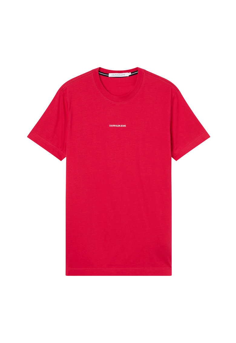 Tricou slim fit din bumbac organic cu logo fashiondays.ro