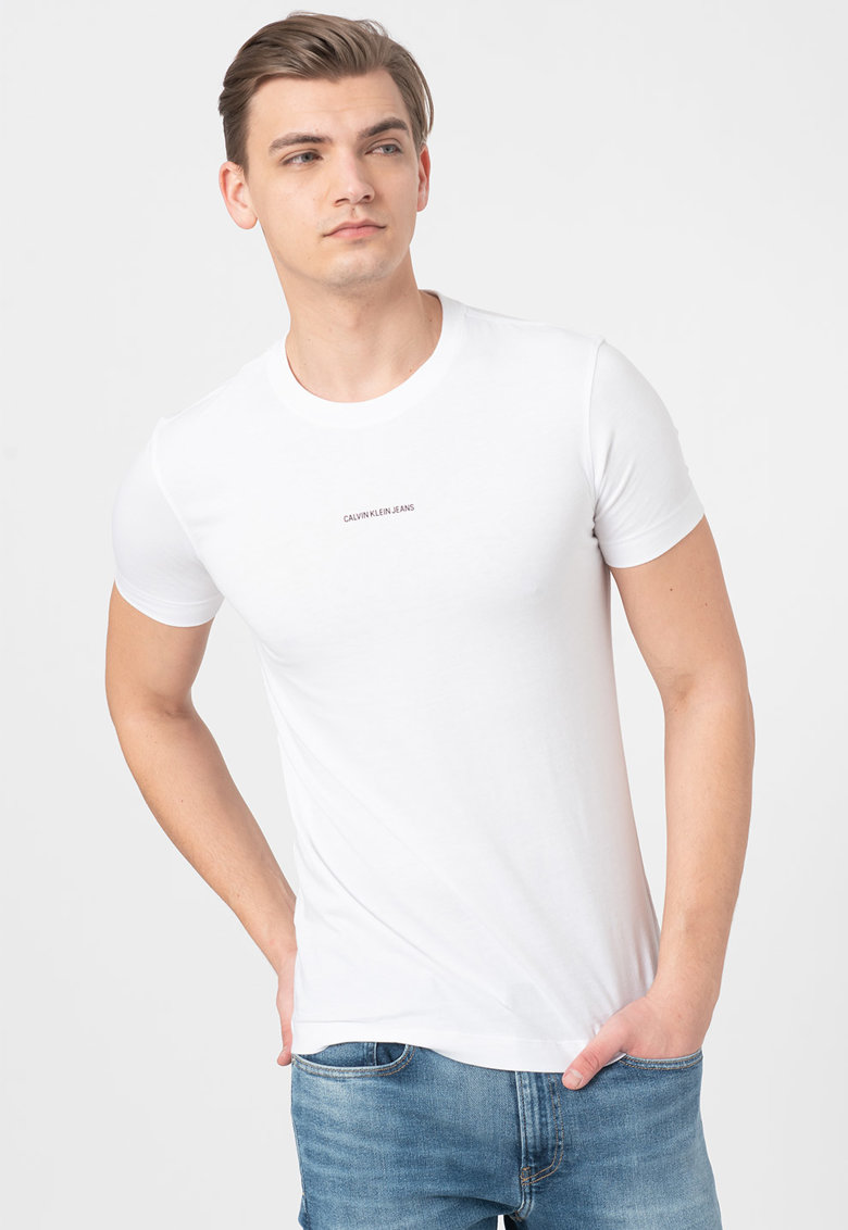 Tricou slim fit din bumbac organic Bărbați imagine