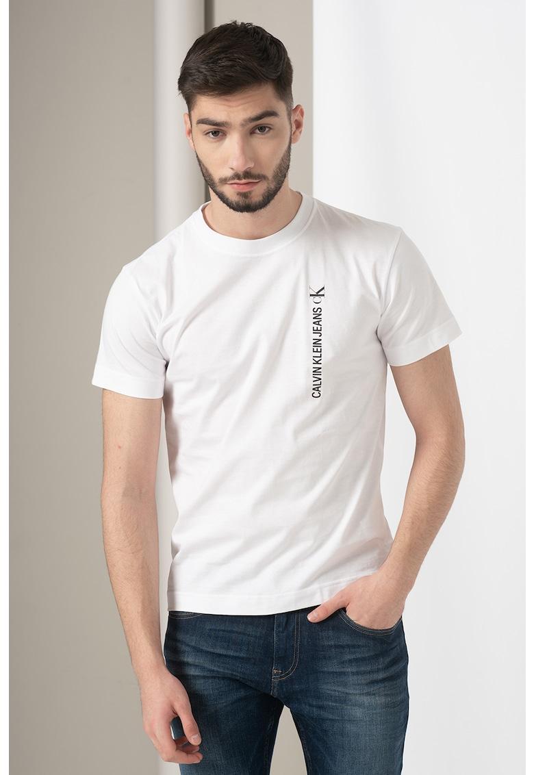 Tricou de bumbac organic - detaliu cu imprimeu logo imagine