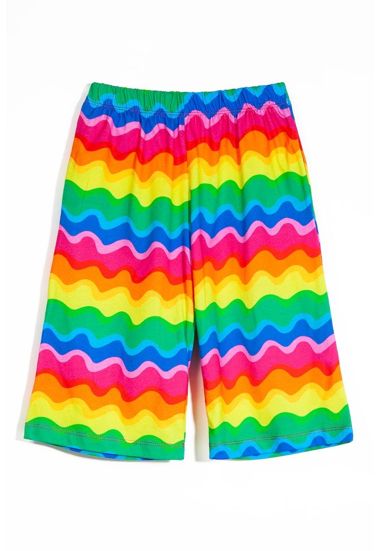 Pantaloni cu model colorblock imagine fashiondays.ro 2021
