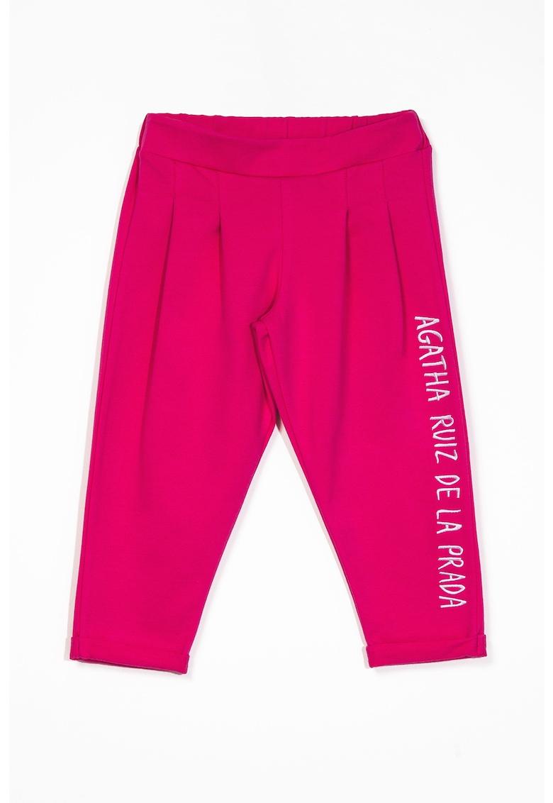 Pantaloni sport conici cu aspect colorblock Agatha Ruiz de la Prada fashiondays.ro