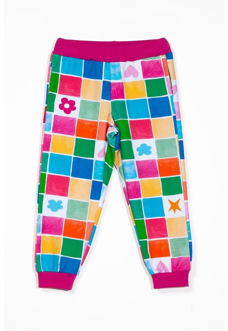 Pantaloni jogger cu logo brodat imagine fashiondays.ro 2021