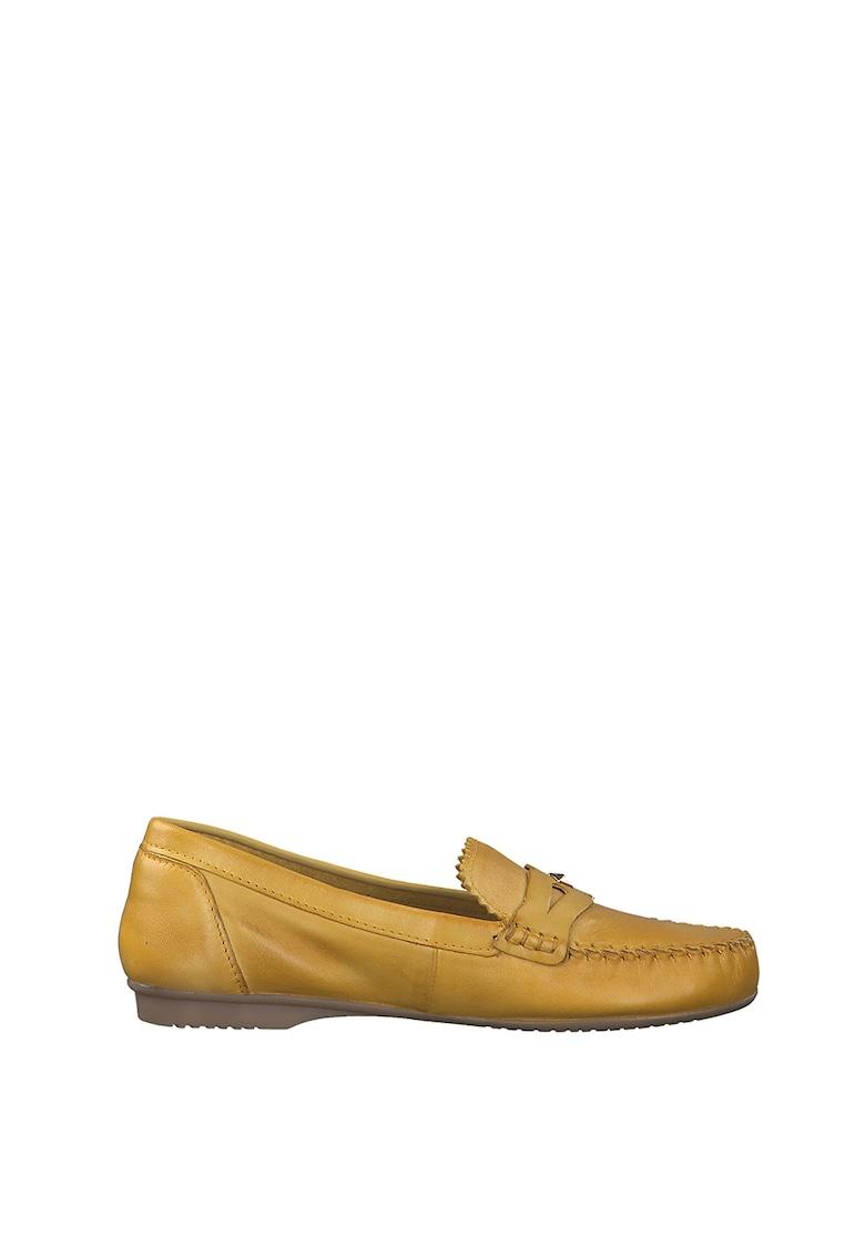 Marco Tozzi Pantofi loafer penny de piele