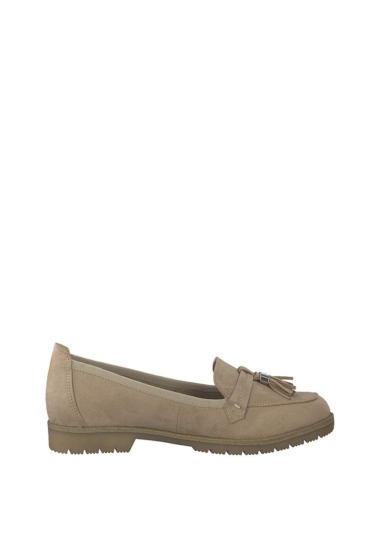 Pantofi lofer penny de piele intoarsa sintetica