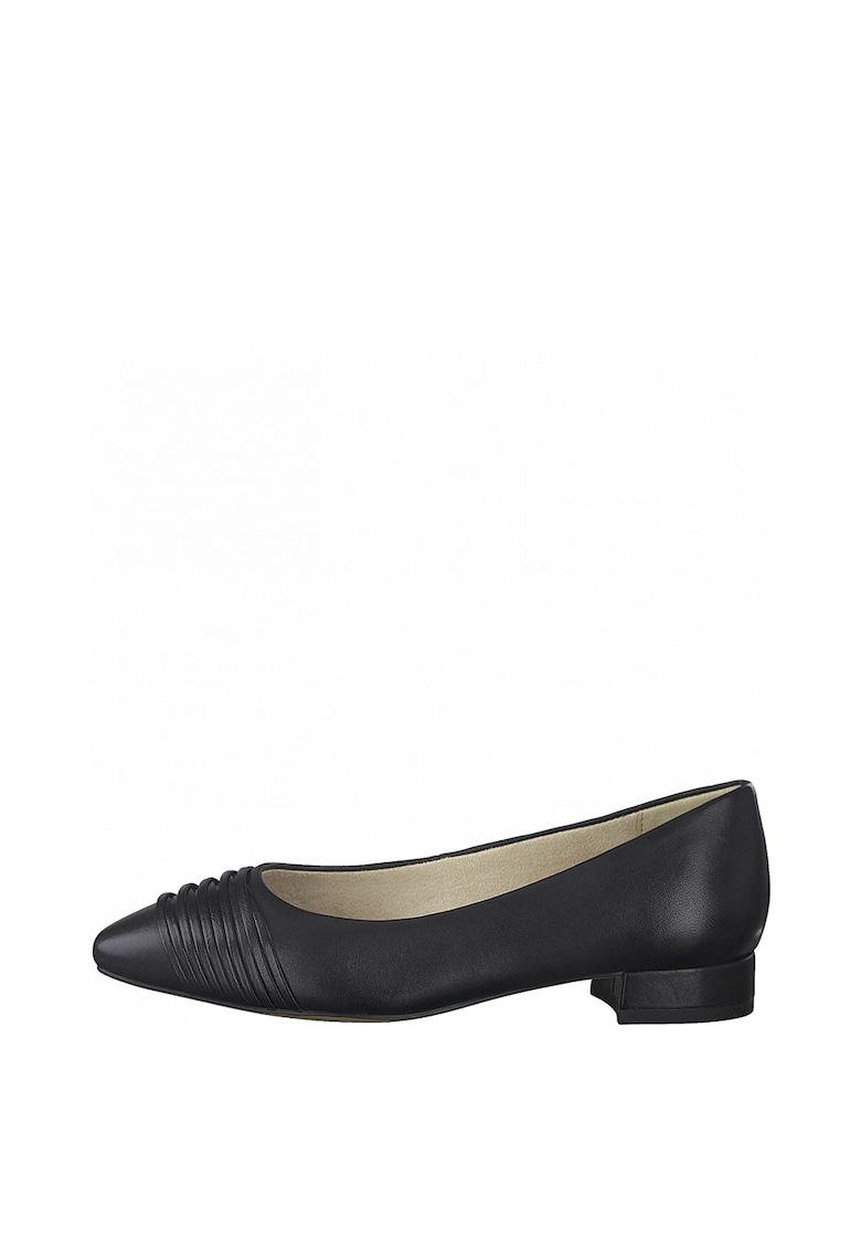 Pantofi de piele si piele ecologica cu varf migdalat imagine