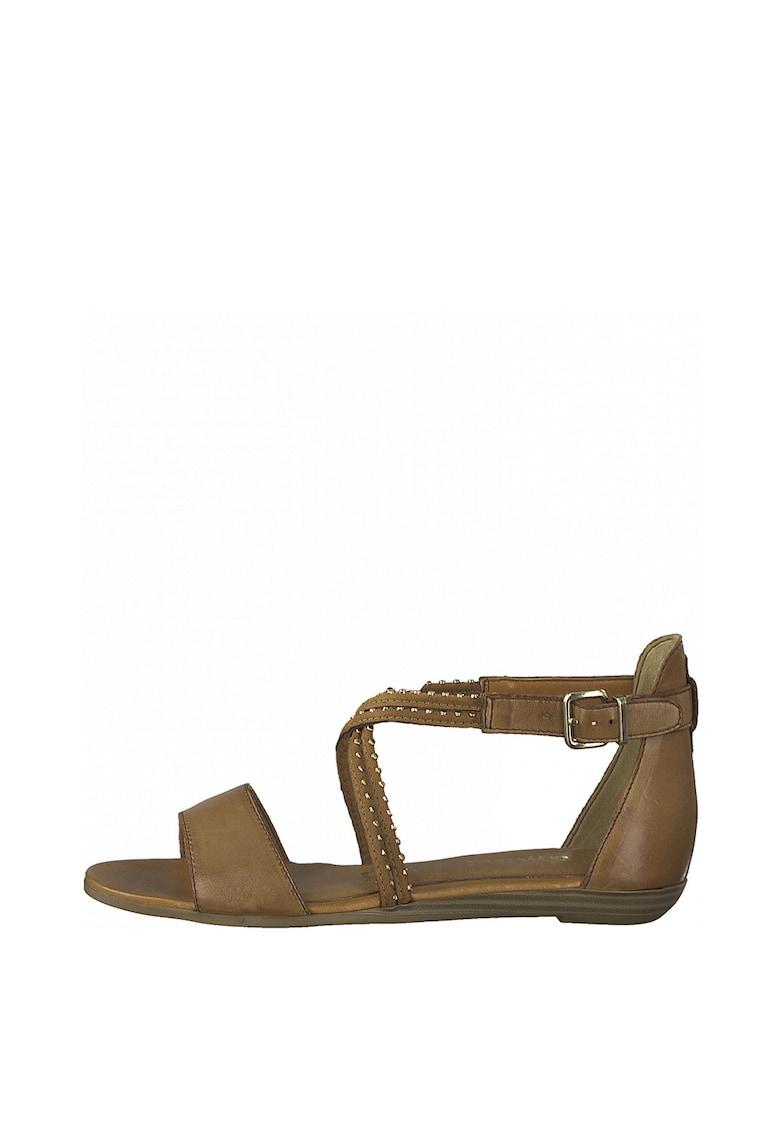 Sandale cu amortizare si garnituri de piele imagine fashiondays.ro Tamaris