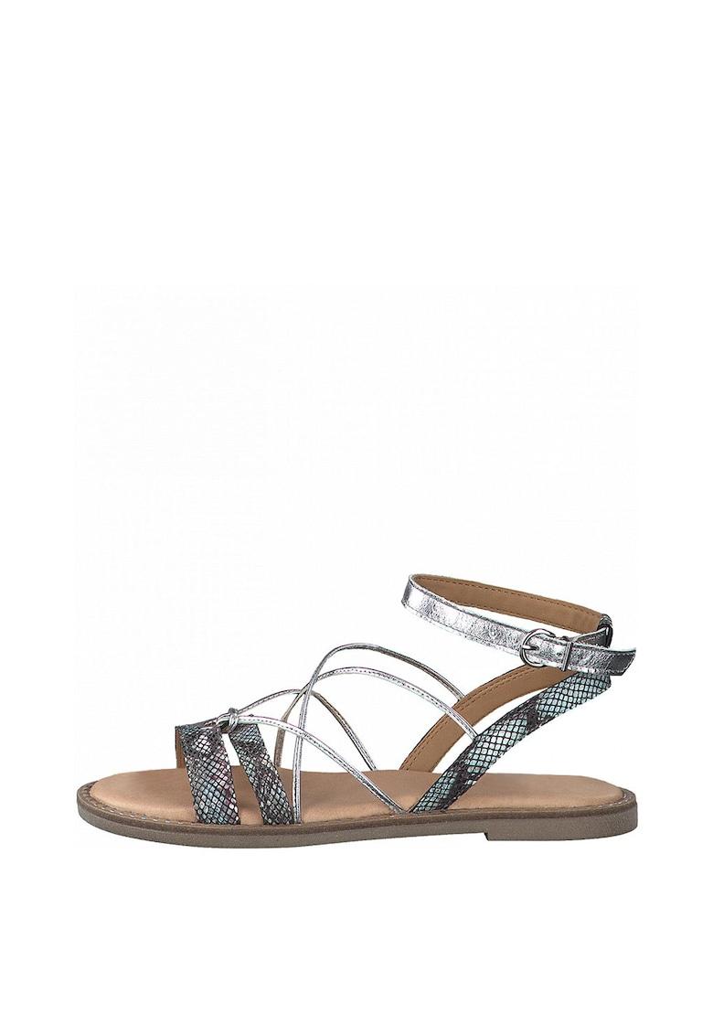 Sandale de piele si piele ecologica - cu barete multiple Tamaris fashiondays.ro
