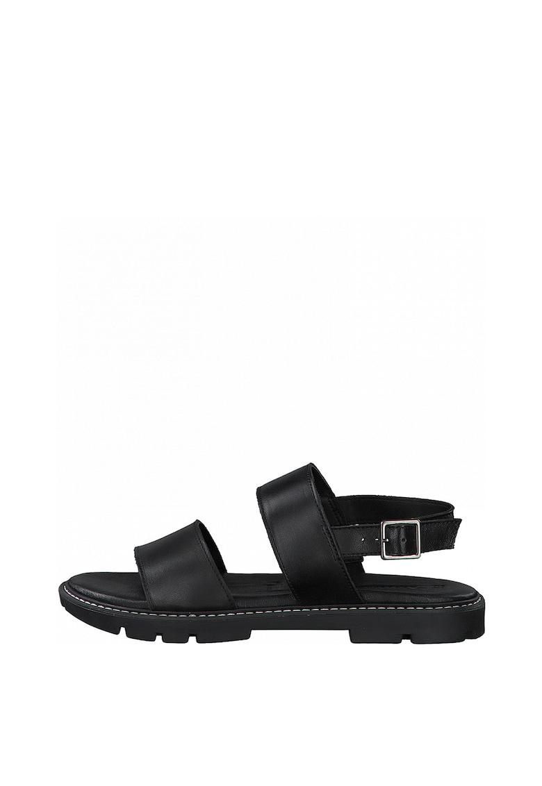 Sandale slingback de piele Tamaris fashiondays.ro