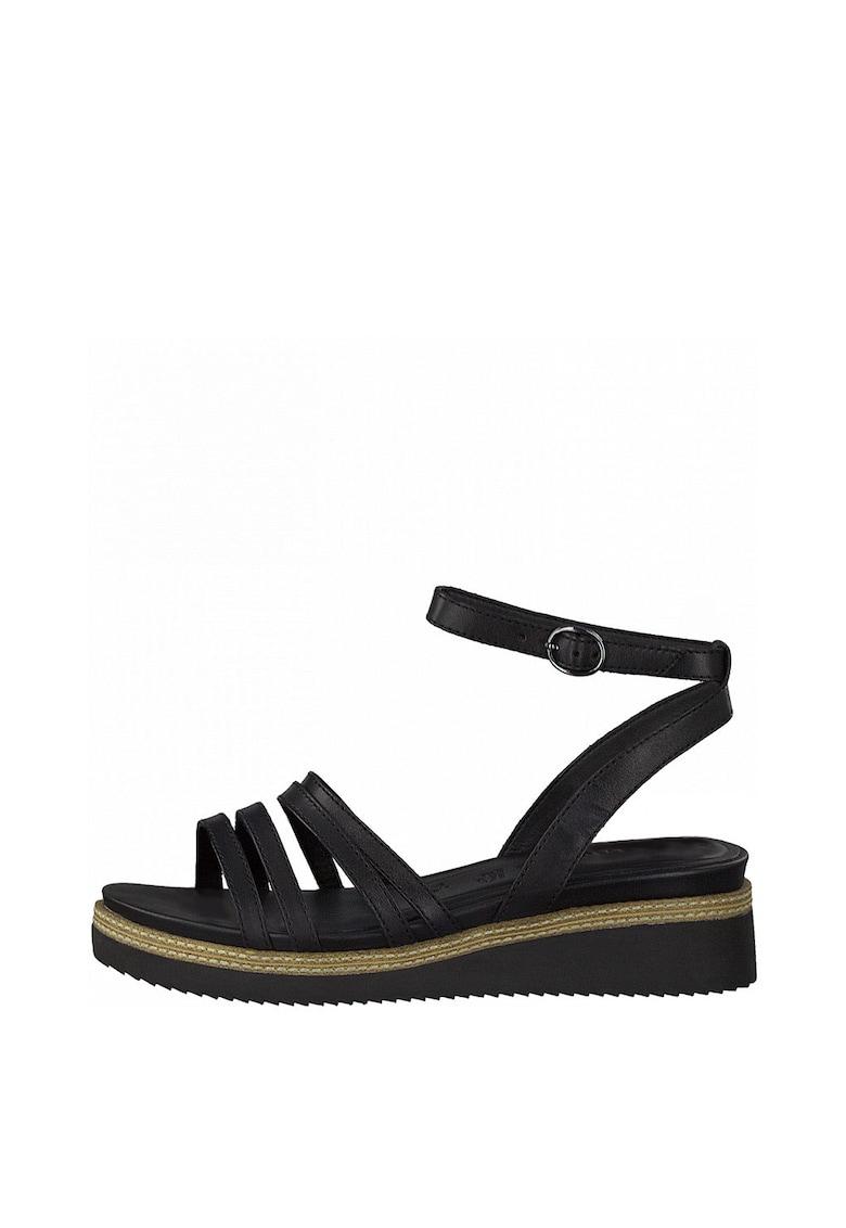 Sandale wedge de piele Tamaris fashiondays.ro