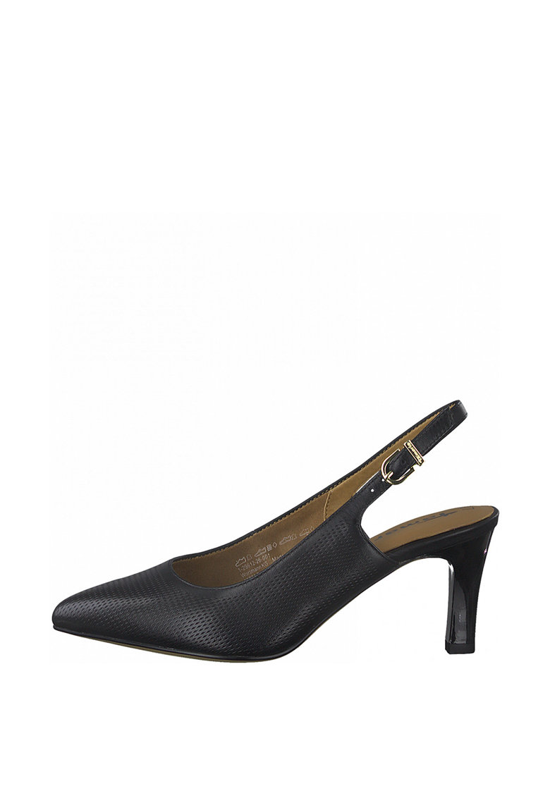 Pantofi slingback de piele cu aspect perforat