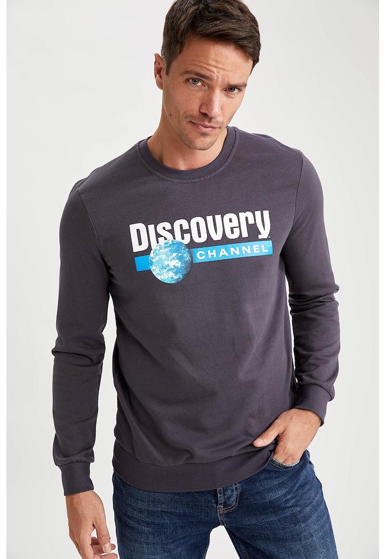 Bluza sport cu imprimeu text de la DeFacto