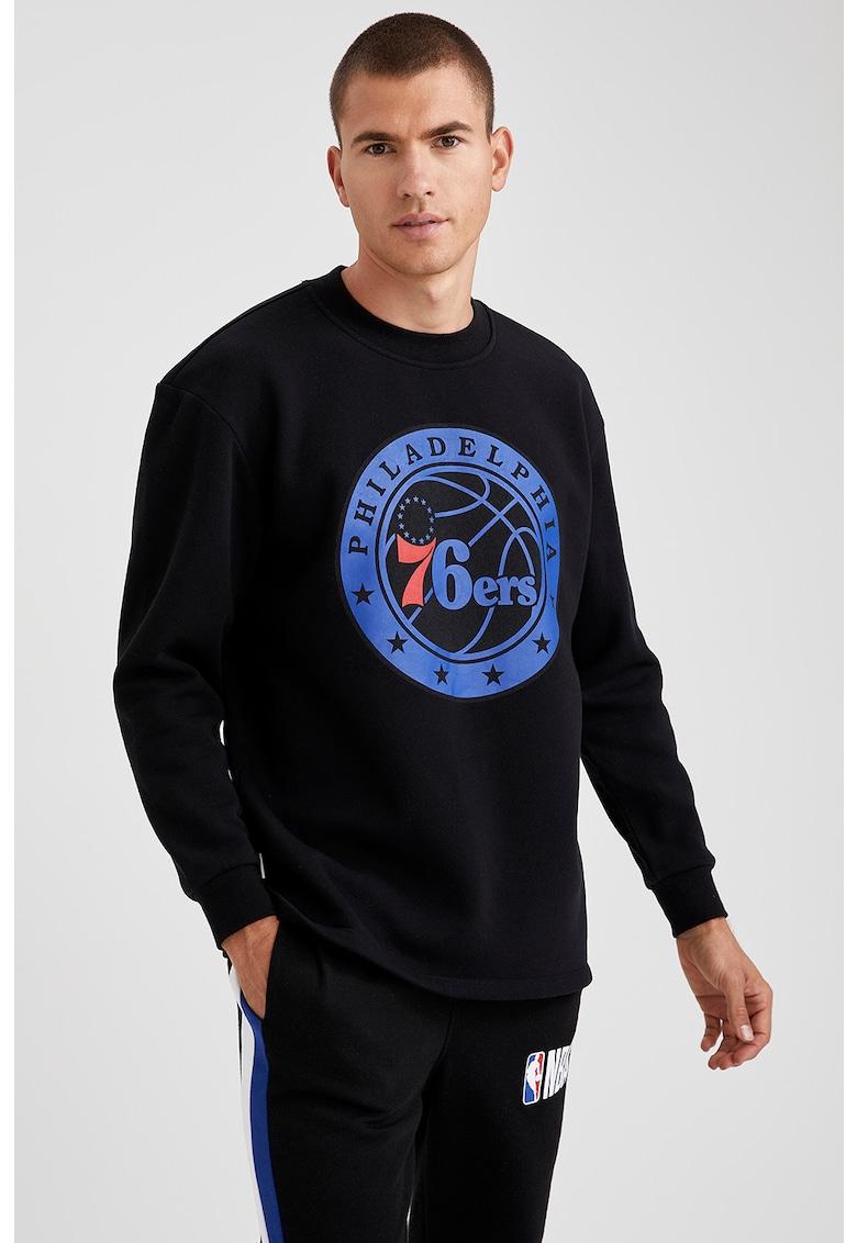 Bluza sport regular fit cu imprimeu imagine