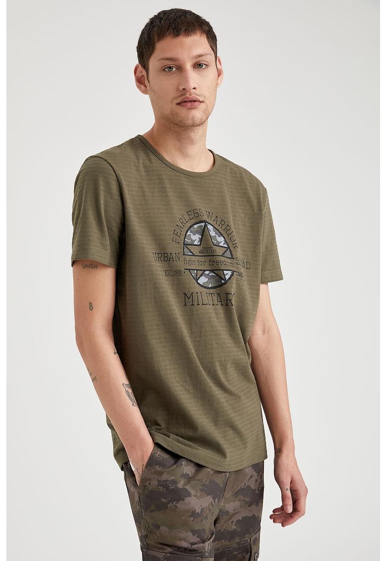 Tricou din bumbac cu imprimeu de la DeFacto