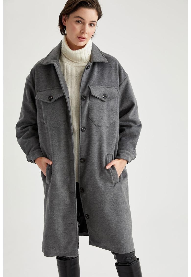 Palton supradimensionat cu maneci cazute