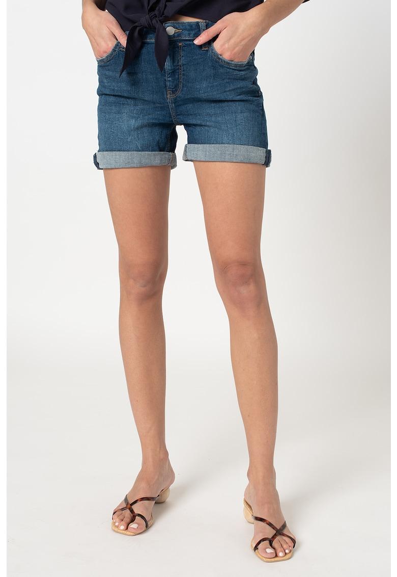 Pantaloni scurti de denim cu terminatii pliabile imagine fashiondays.ro 2021