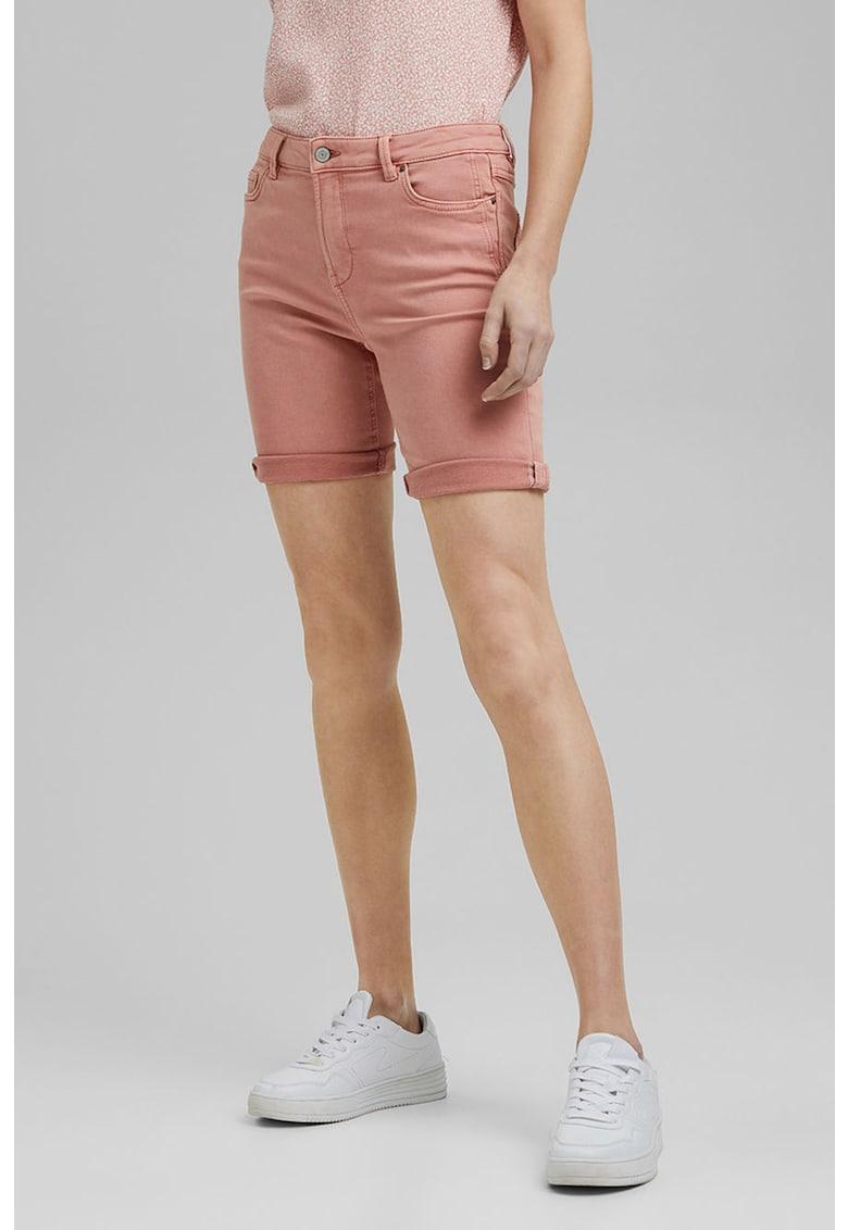 Pantaloni scurti slim-fit de denim
