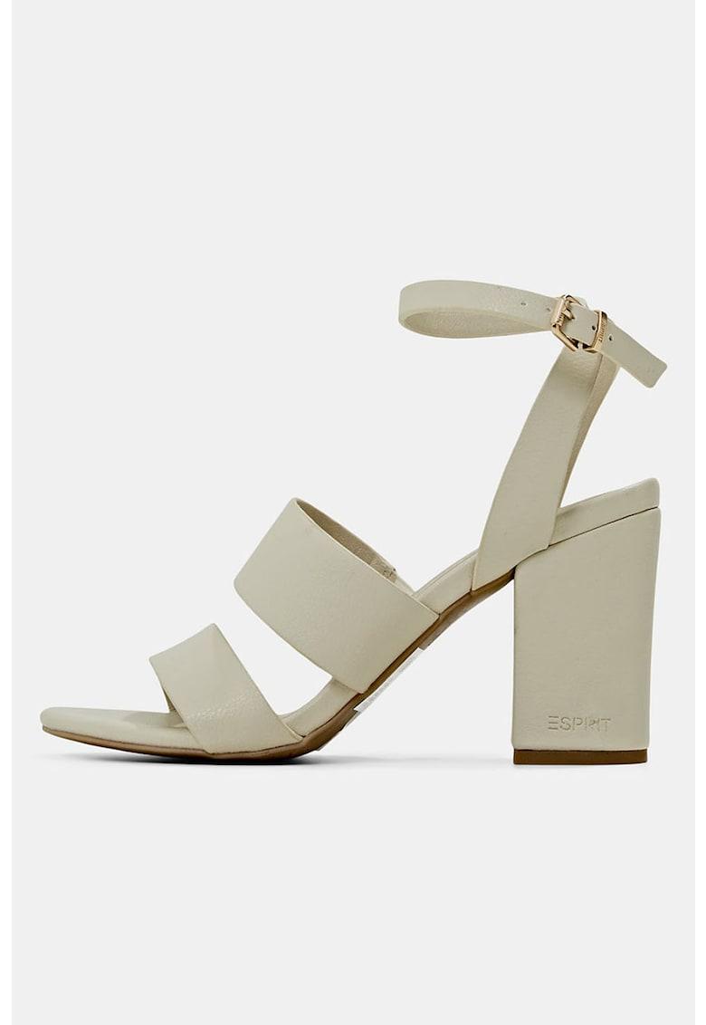 Sandale din piele ecologica cu toc inalt