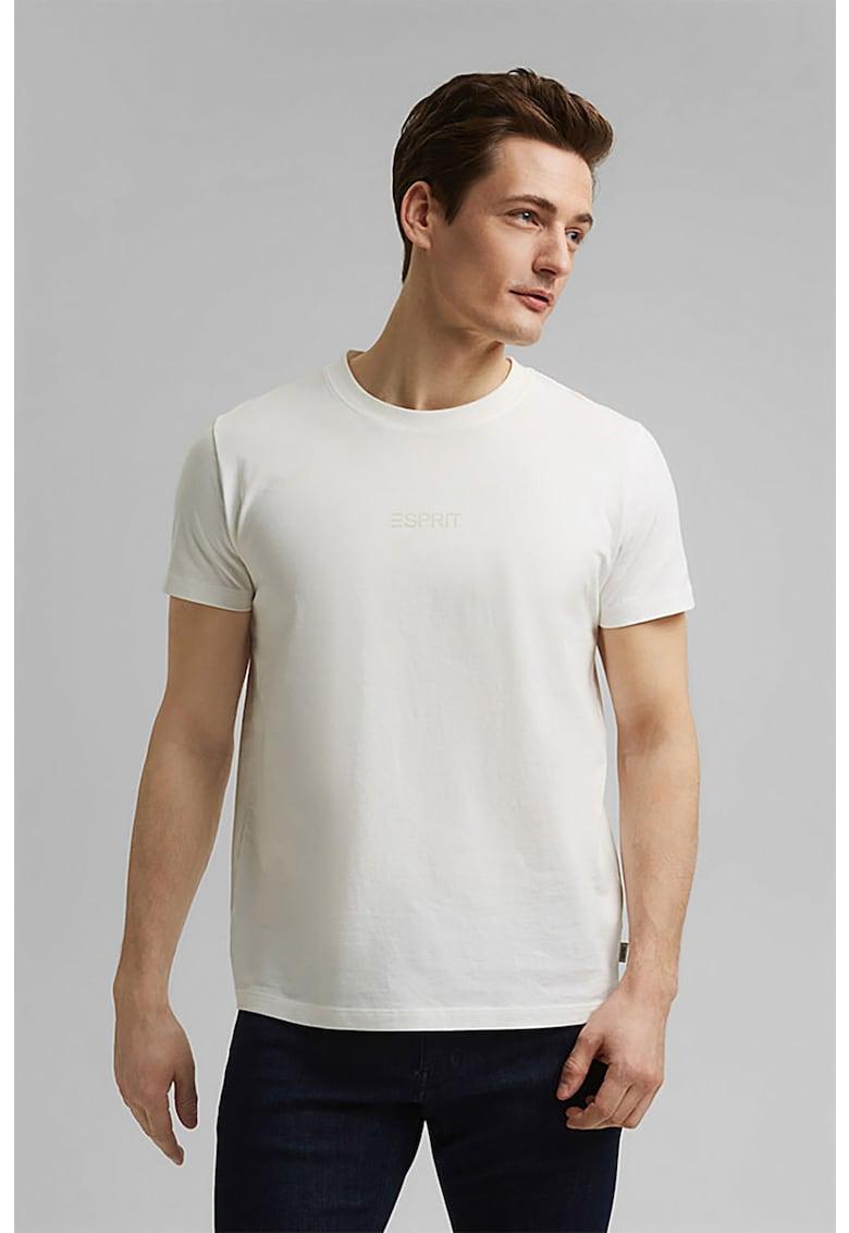Tricou de bumbac organic cu imprimeu logo reflectorizant poza fashiondays