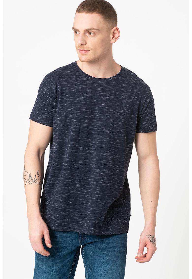 Tricou din amestec de bumbac organic cu model space dye Bărbați imagine
