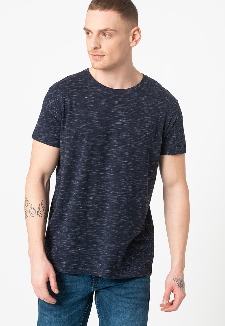 Tricou din amestec de bumbac organic cu model space dye