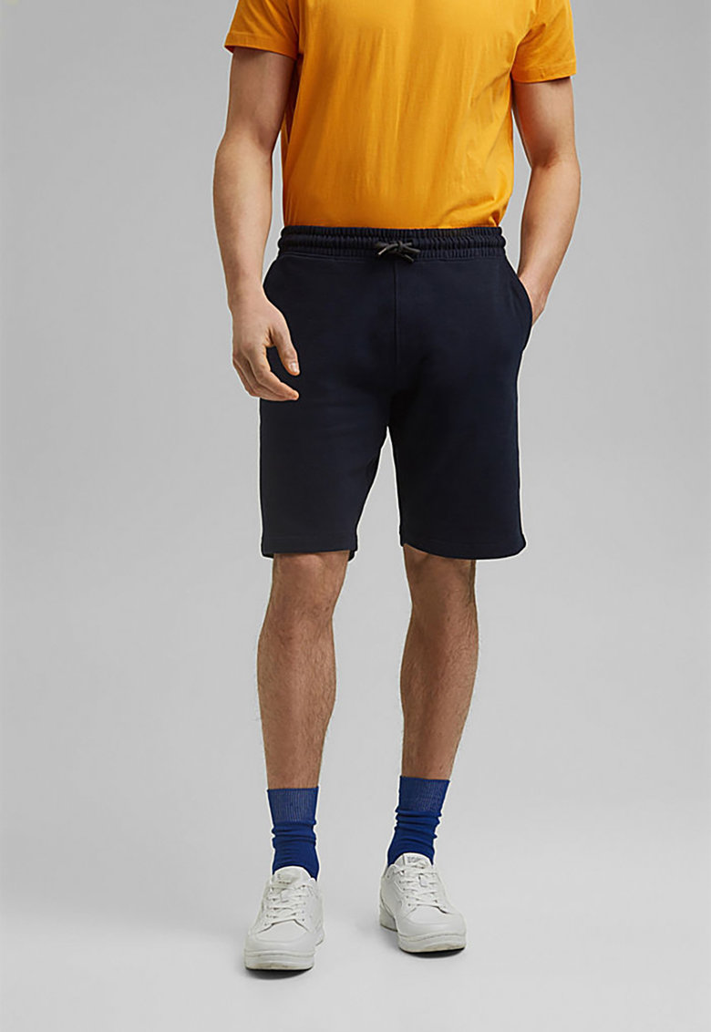Pantaloni scurti sport de bumbac organic cu snur fashiondays.ro