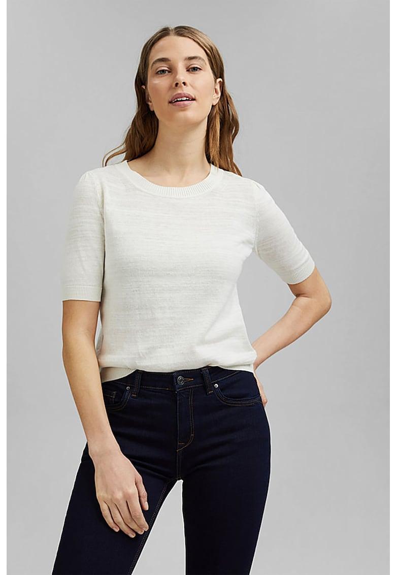 Bluza tricotata fin din amestec de in si bumbac organic