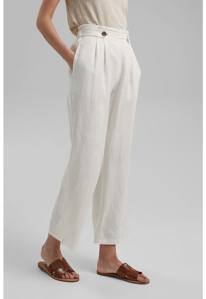 Pantaloni culotte de in cu nasturi decorativi