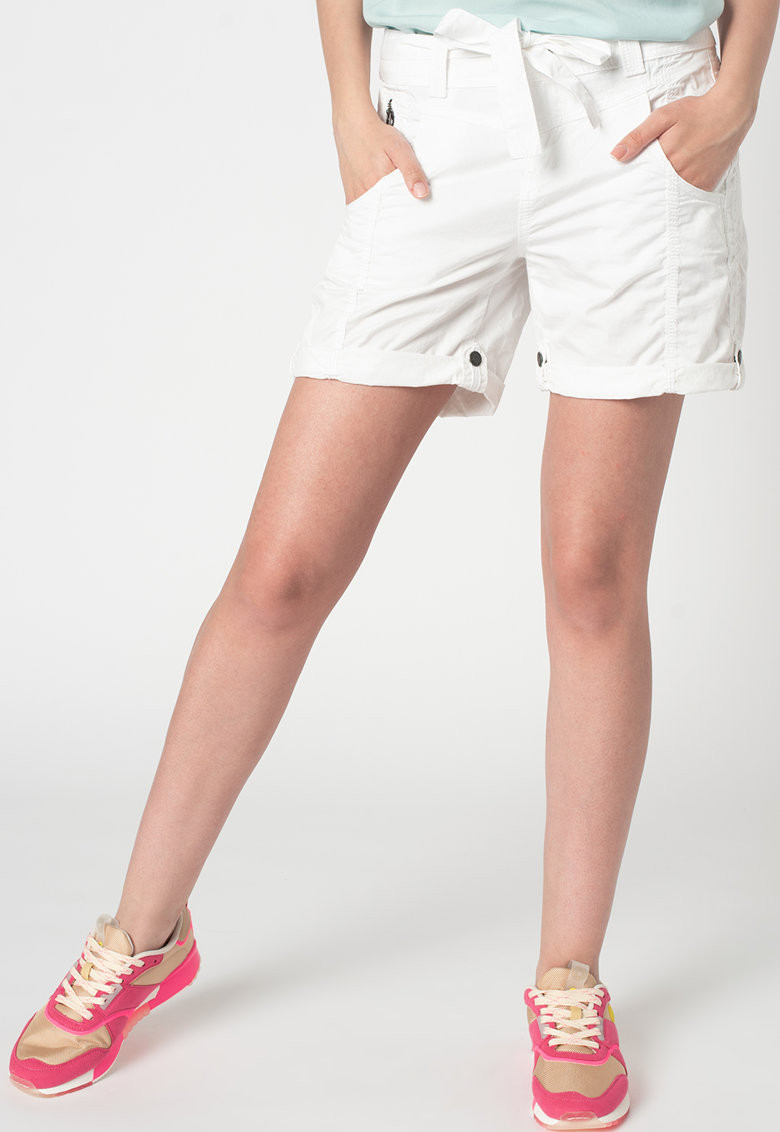 Pantaloni scurti de bumbac organic cu terminatie pliabila