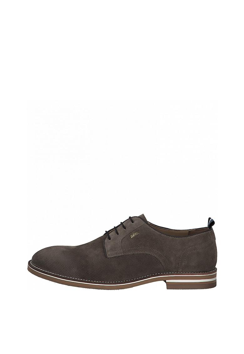 Pantofi derby de piele intoarsa cu model texturat de la sOliver