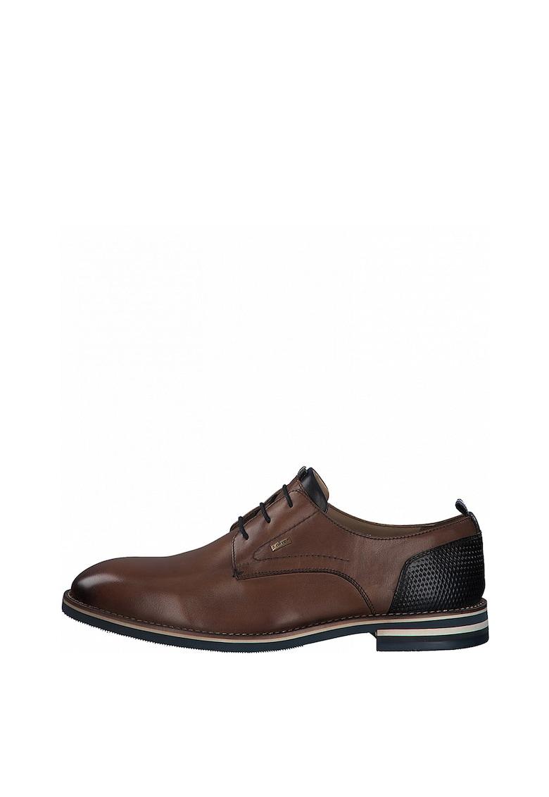 Pantofi de piele cu talpa contrastanta fashiondays.ro