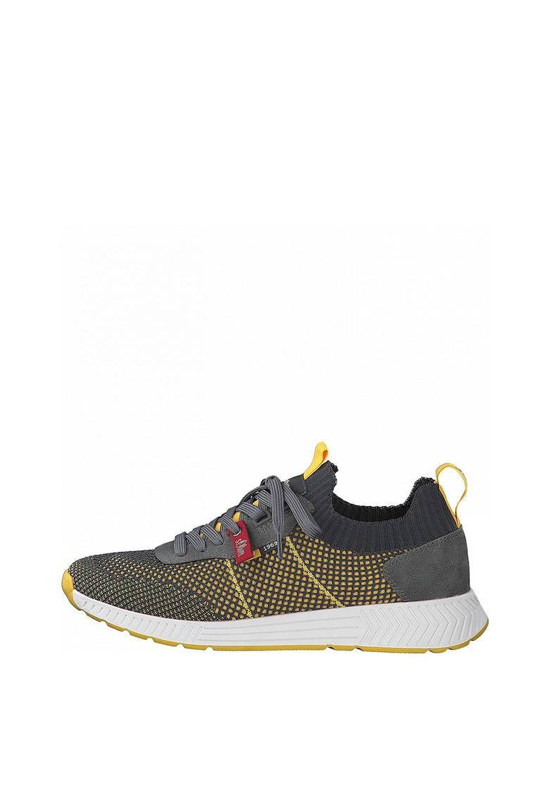 Pantofi sport slip-on cu model soseta