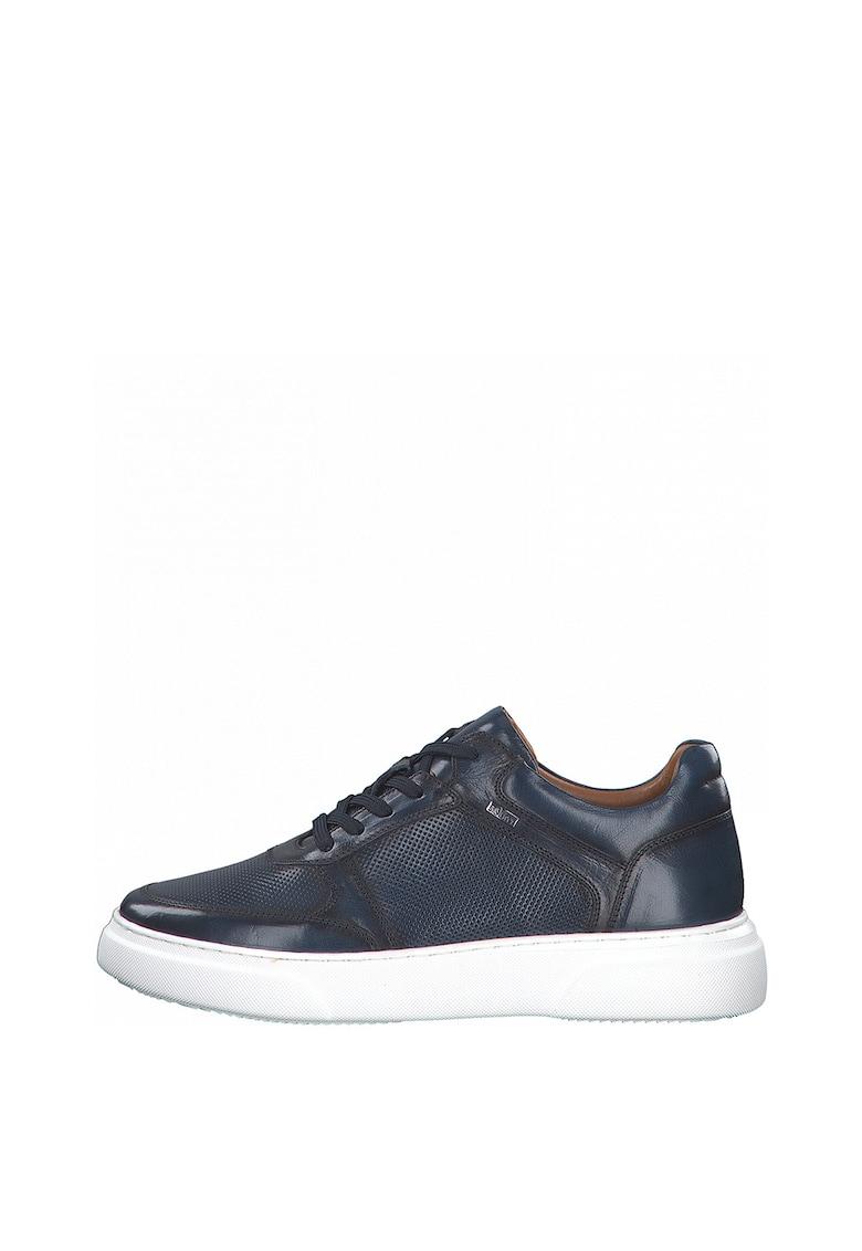 Pantofi sport de piele cu aspect perforat imagine