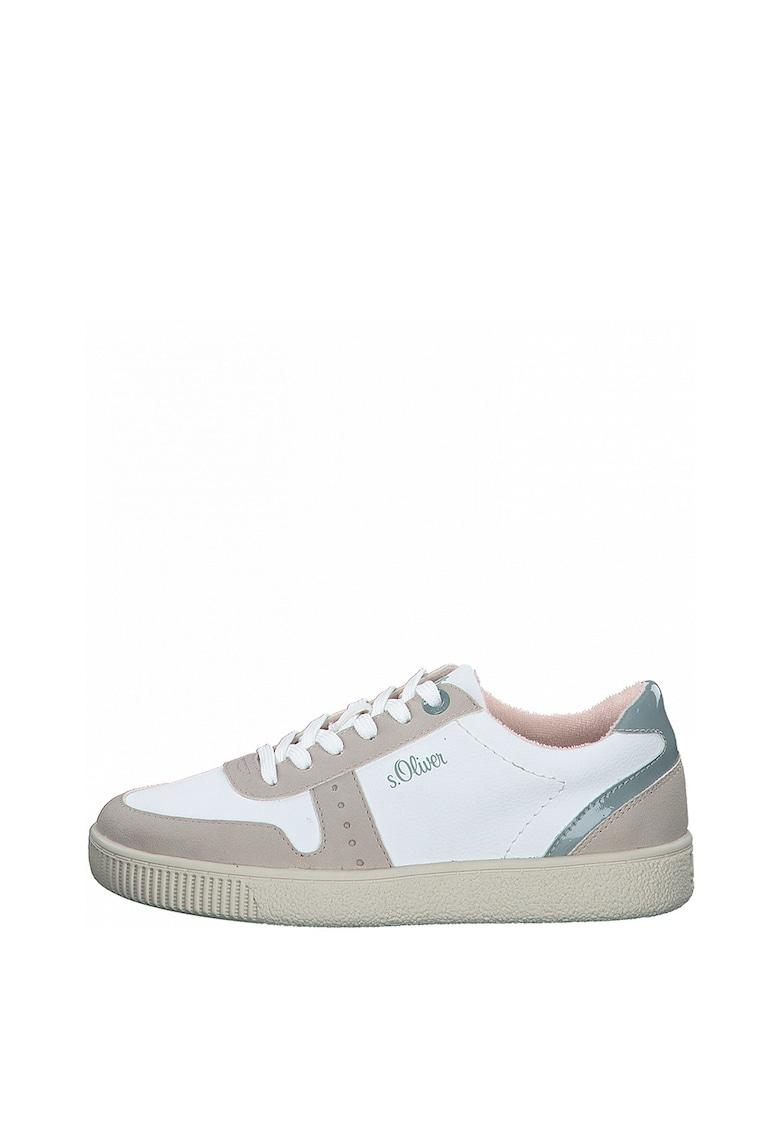 Pantofi sport din piele ecologica cu garnituri contrastante s.Oliver fashiondays.ro