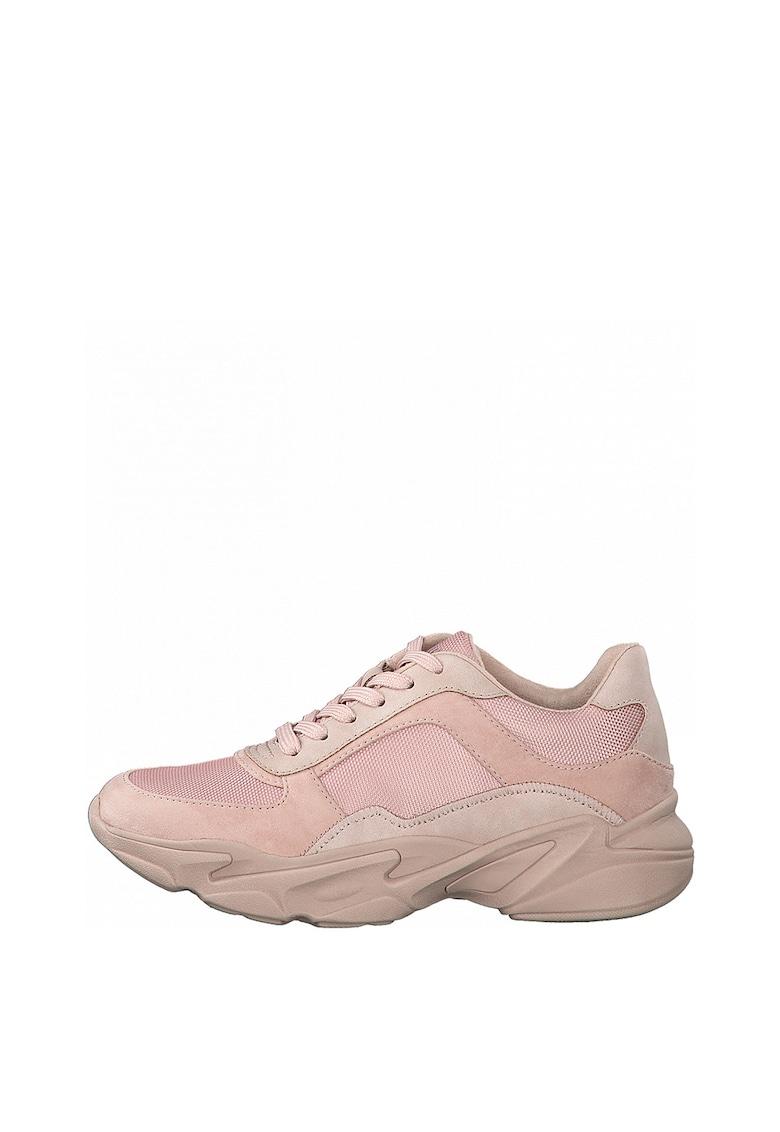 Pantofi sport cu aspect masiv si garnituri din piele ecologica s.Oliver fashiondays.ro